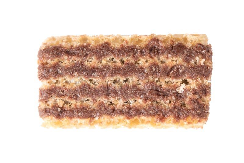 Chocolate de la oblea aislado en el fondo blanco imágenes de archivo libres de regalías