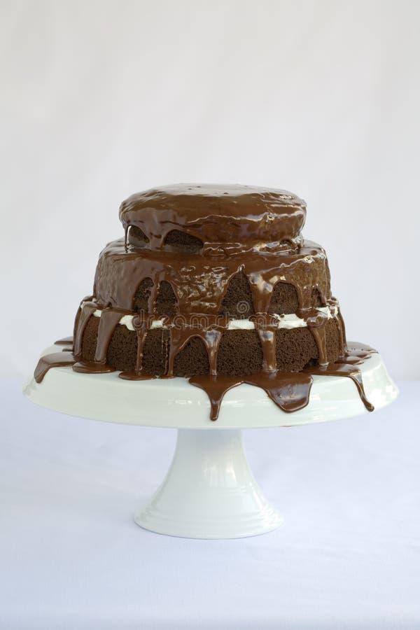 Chocolate de la torta fotografía de archivo libre de regalías
