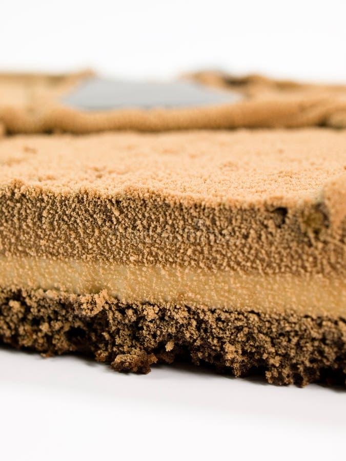 Chocolate de la torta adornado con el extracto fotos de archivo libres de regalías