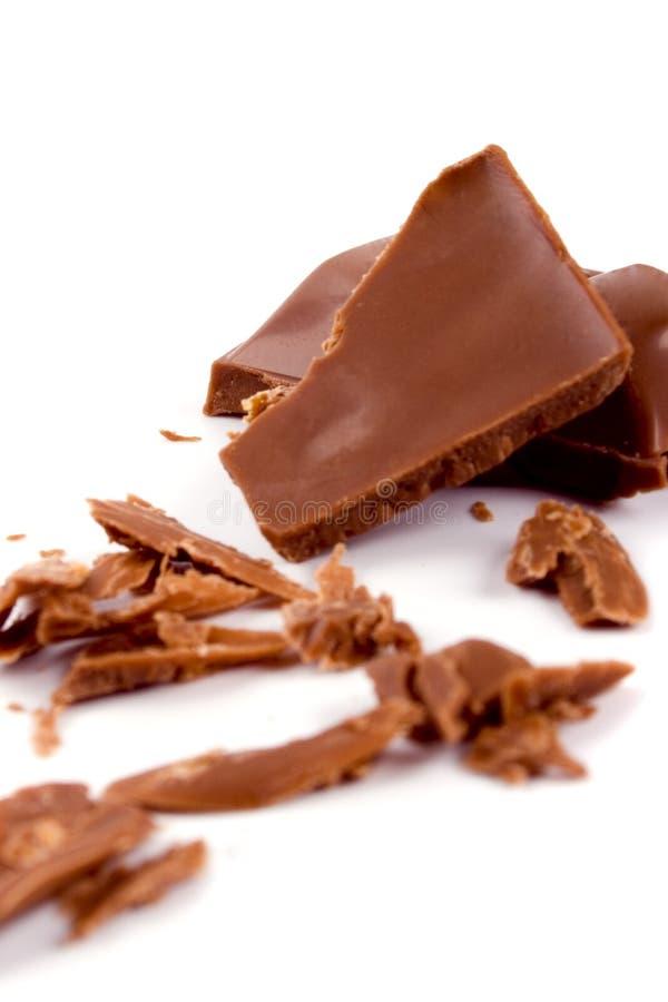Chocolate de leite quebrado foto de stock royalty free