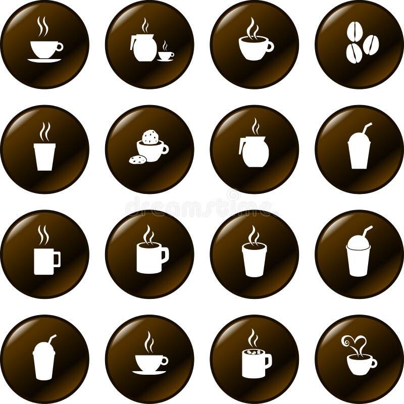 Chocolate del café y vector caliente de las bebidas de las bebidas ilustración del vector