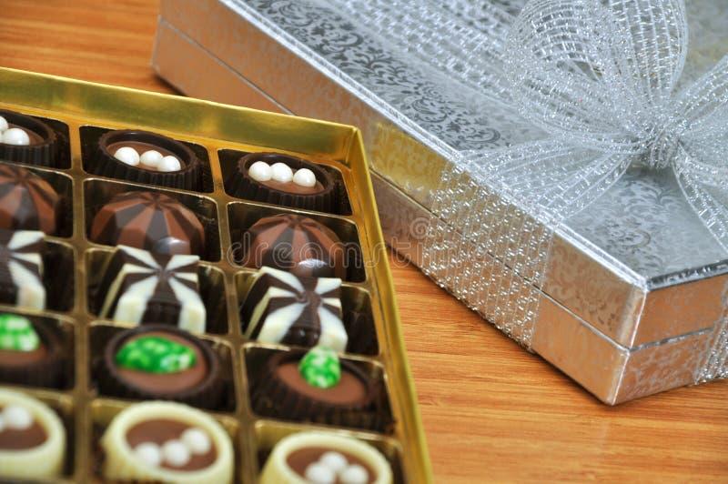 Chocolate delicioso na caixa imagem de stock royalty free