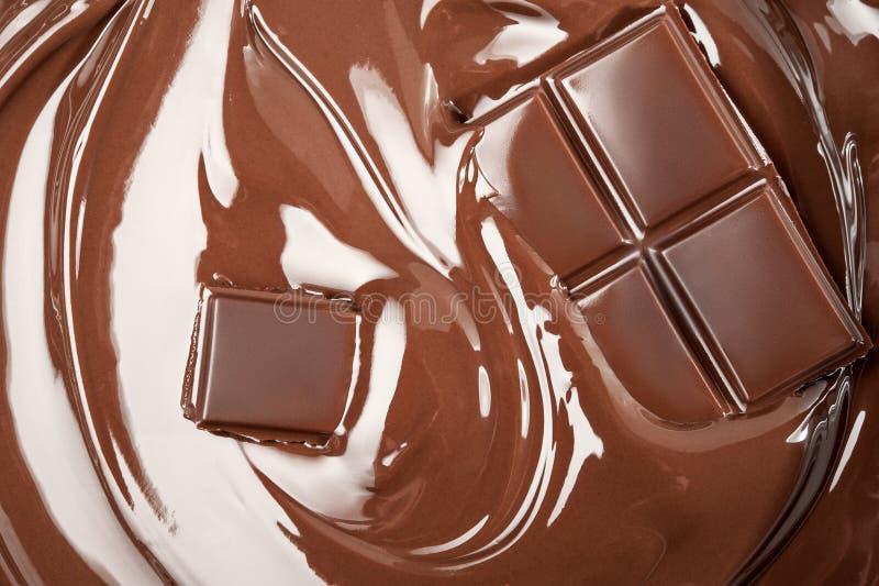Chocolate derretido fotografia de stock royalty free