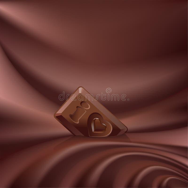 chocolate derretido do choco fundo ondulado ilustração stock
