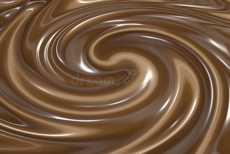 Chocolate derretido que remolina libre illustration