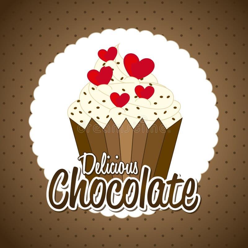 Chocolate design. Over pattern background vector illustration stock illustration