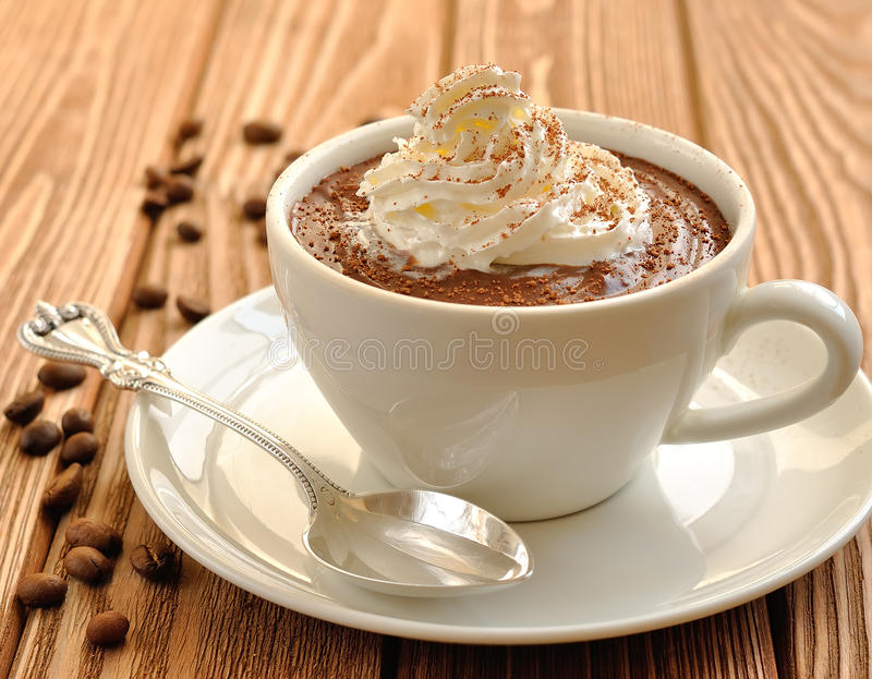 Download Chocolate Dessert With Whipped Cream Royalty Free Stock Images - Image: 25844869