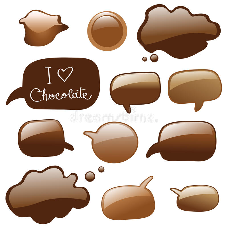 Download Chocolate dialog bubbles stock vector. Image of cake, background - 9621679