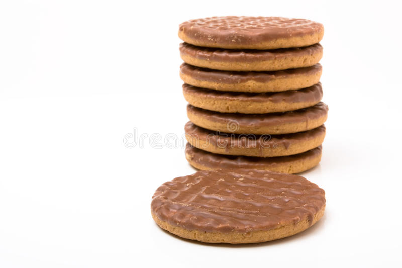Download Chocolate Digestive stock image. Image of smothered, oats - 13474249