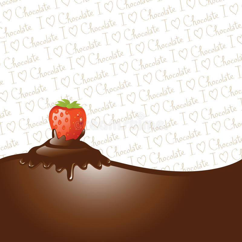 Chocolate Dipped Strawberry Stock Photo