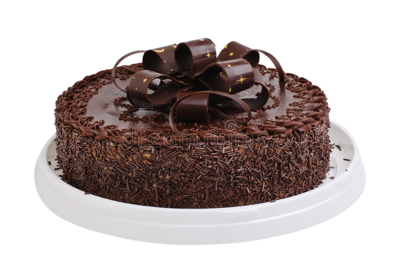 Chocolate do bolo foto de stock