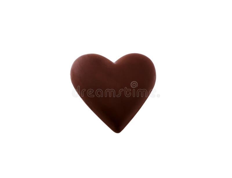 Chocolate do coração foto de stock royalty free