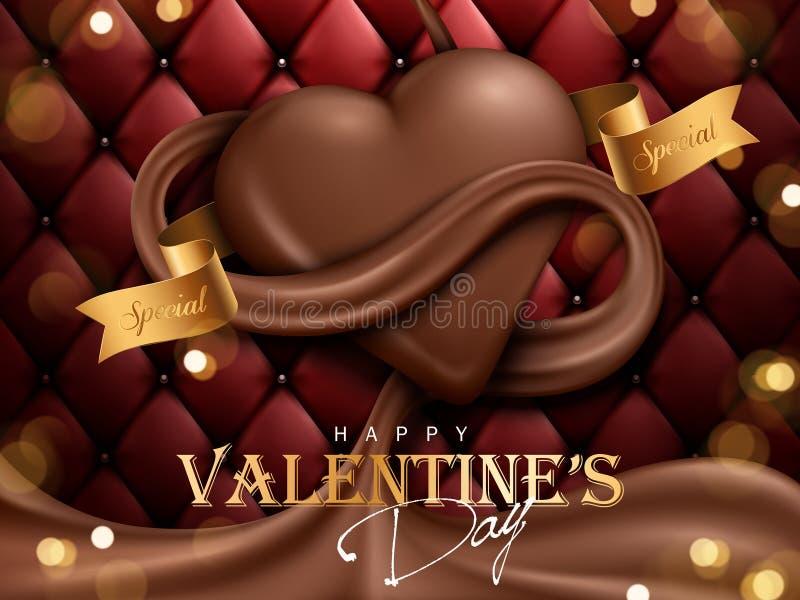Chocolate do dia de são valentim ilustração do vetor