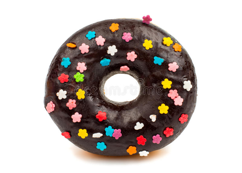 Chocolate donut royalty free stock photo