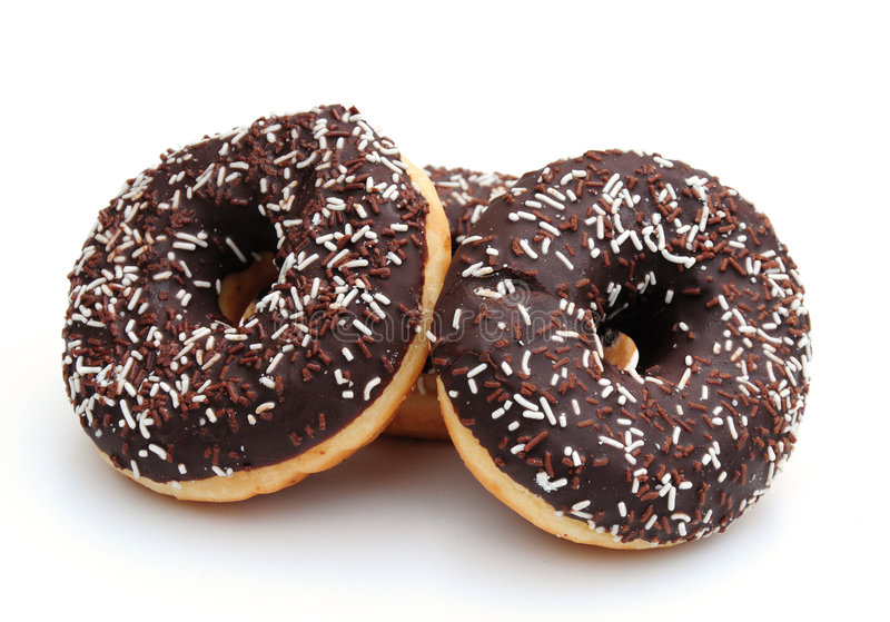 Download Chocolate donuts stock photo. Image of unhealthy, cake - 6498356