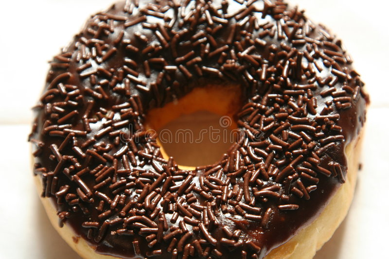Chocolate donuts stock photography