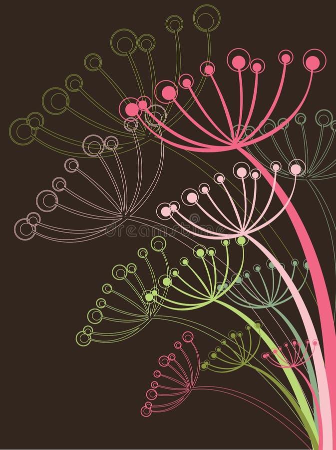 Chocolate e dente-de-leão cor-de-rosa ilustração royalty free
