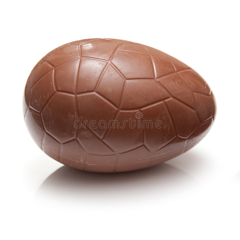 Chocolate Easter egg royalty free stock photography