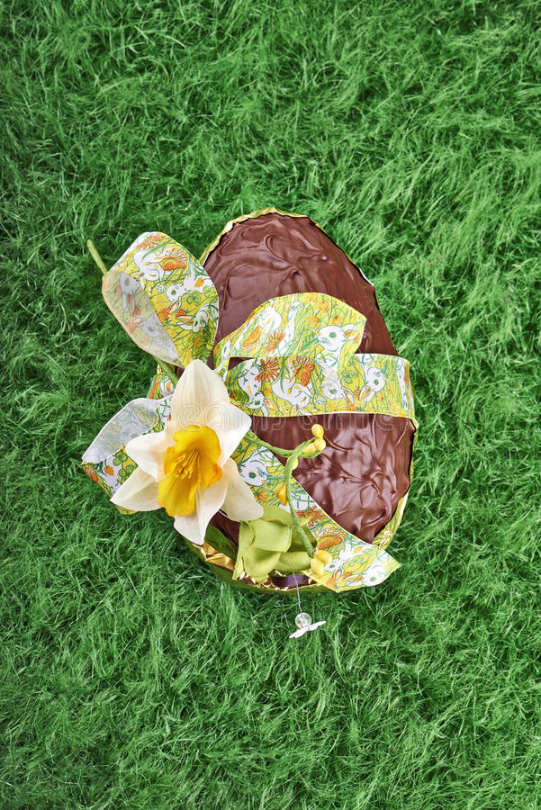 Download Chocolate Easter Egg With  Bow Stock Photo - Image: 29950322