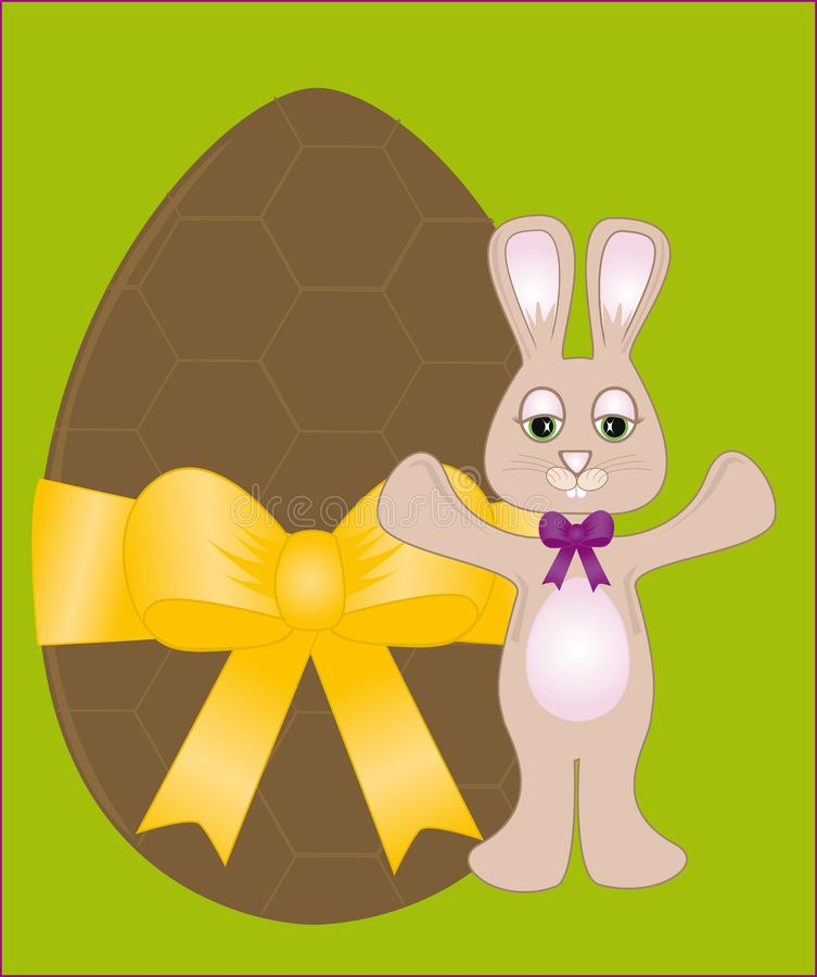 Chocolate Easter Egg & Bunny stock photography