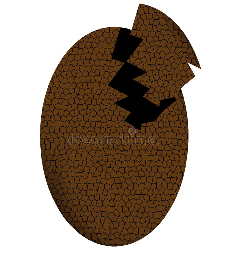 Download Broken Chocolate Egg stock illustration. Illustration of easter - 30113068