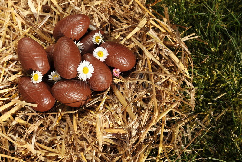 Download Chocolate Easter Eggs stock photo. Image of celebration - 18429468