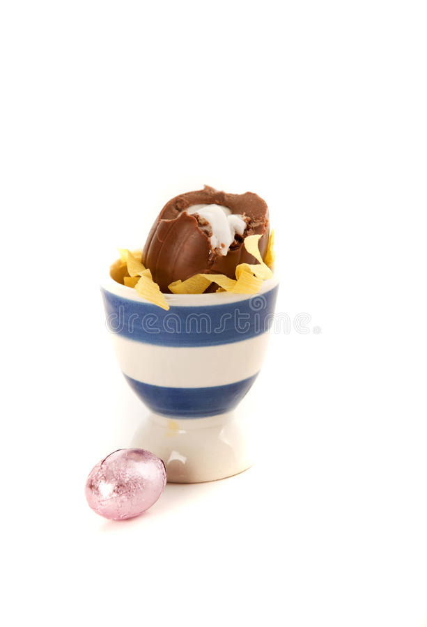 Download Chocolate Egg In An Egg-cup Stock Photo - Image: 18484832