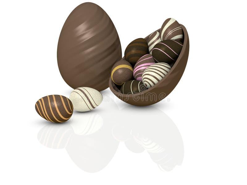 Chocolate Eggs vector illustration