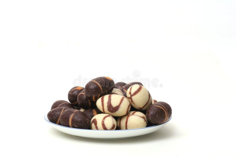 Chocolate eggs royalty free stock image