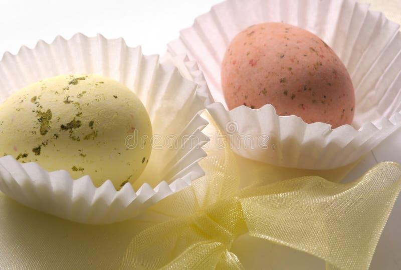 Chocolate Eggs & Bow Stock Photos