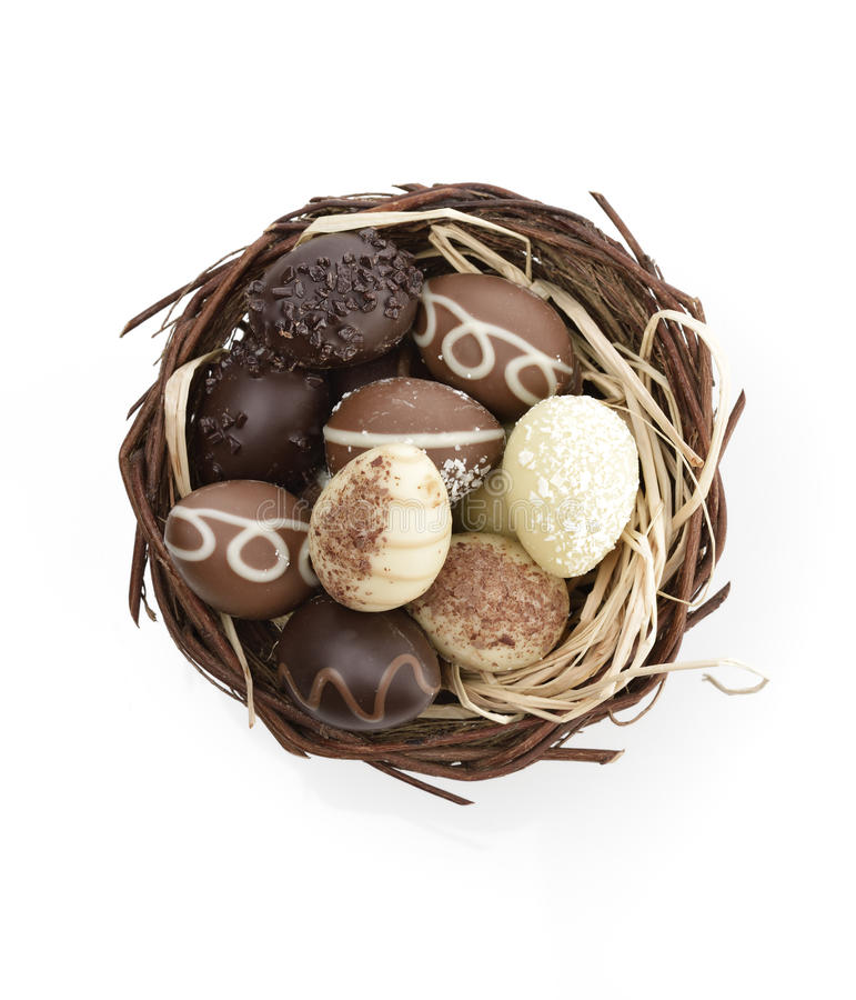 Free Chocolate Eggs In A Nest Stock Image - 29997521