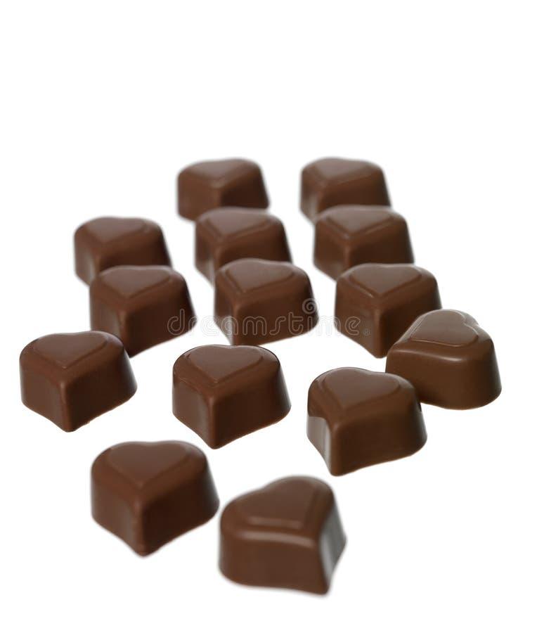 Chocolate en forma de corazón fotografía de archivo libre de regalías