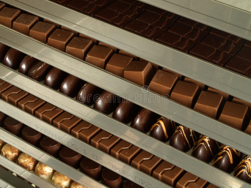Chocolate factory stock photography