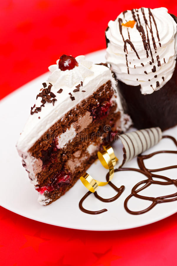 Download Chocolate fancy cake stock image. Image of sugar, decorated - 26367909