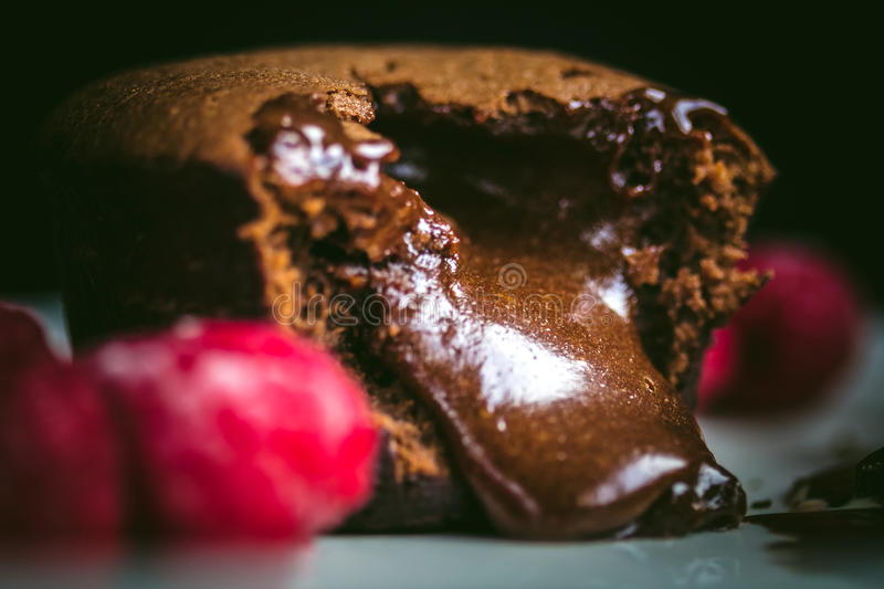 Chocolate fondant royalty free stock images