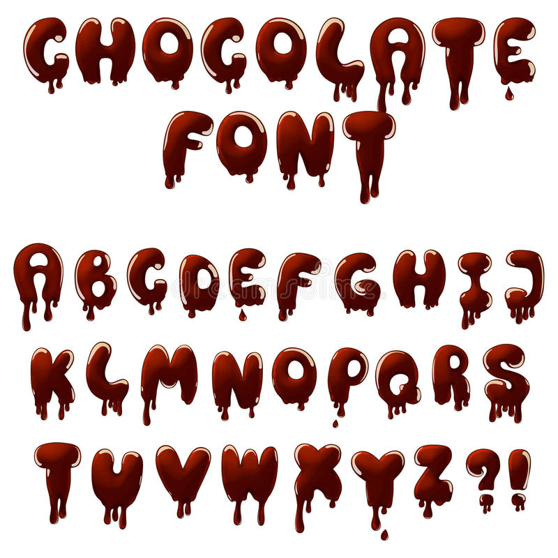 Chocolate font royalty free illustration
