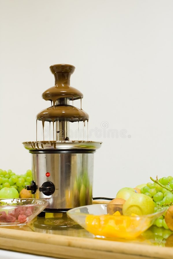 Download Chocolate fountain stock photo. Image of metal, green - 5067062
