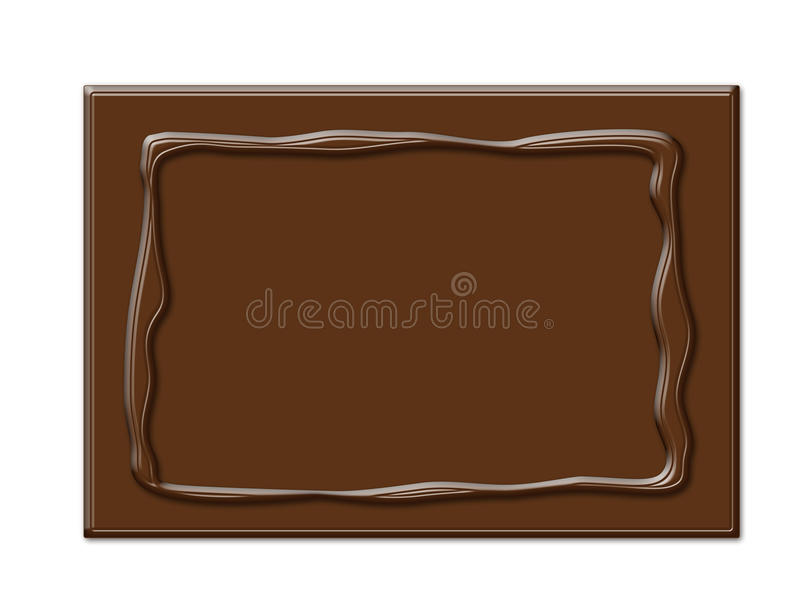 Download Chocolate Frame In Rectangle Shape Stock Illustration - Image: 13283169