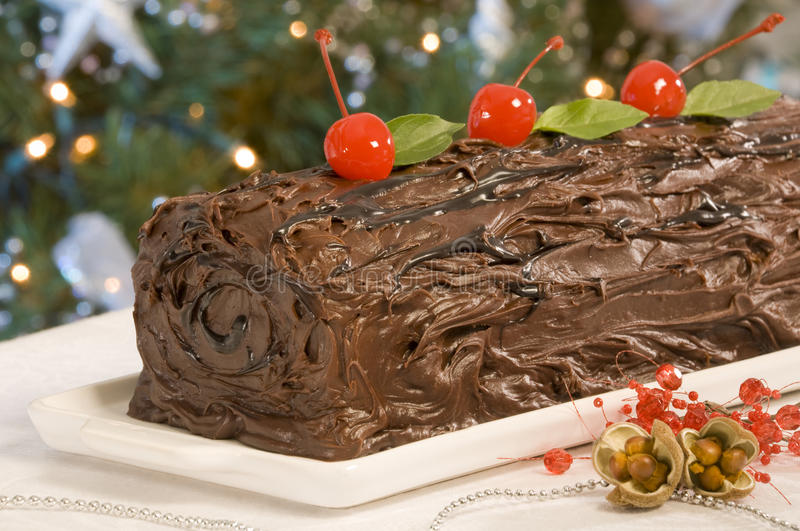 Chocolate Frosted Cake royalty free stock image