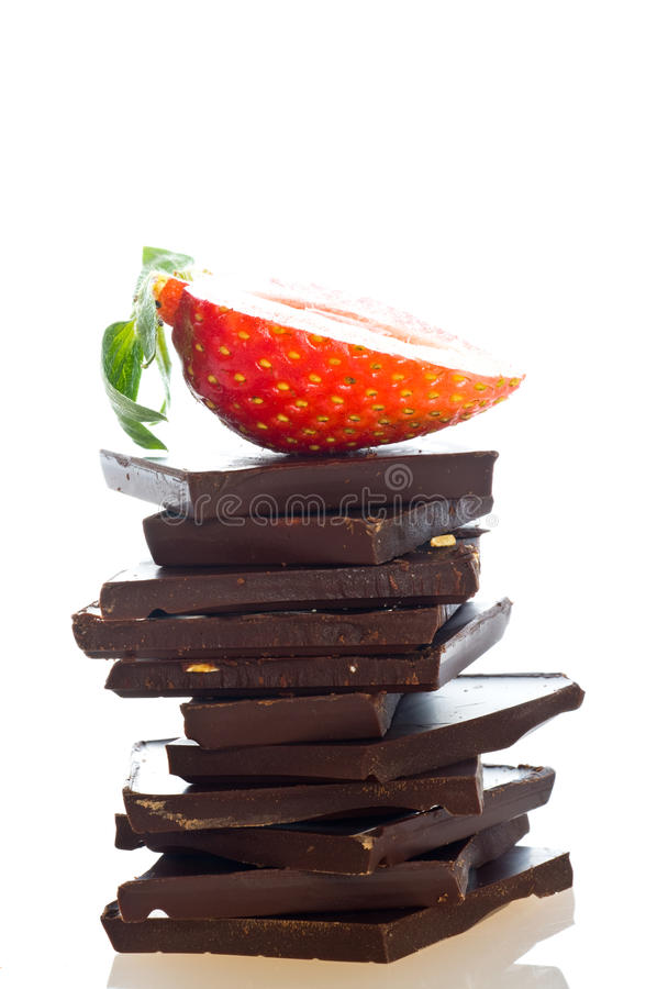 Chocolate and fruit royalty free stock image