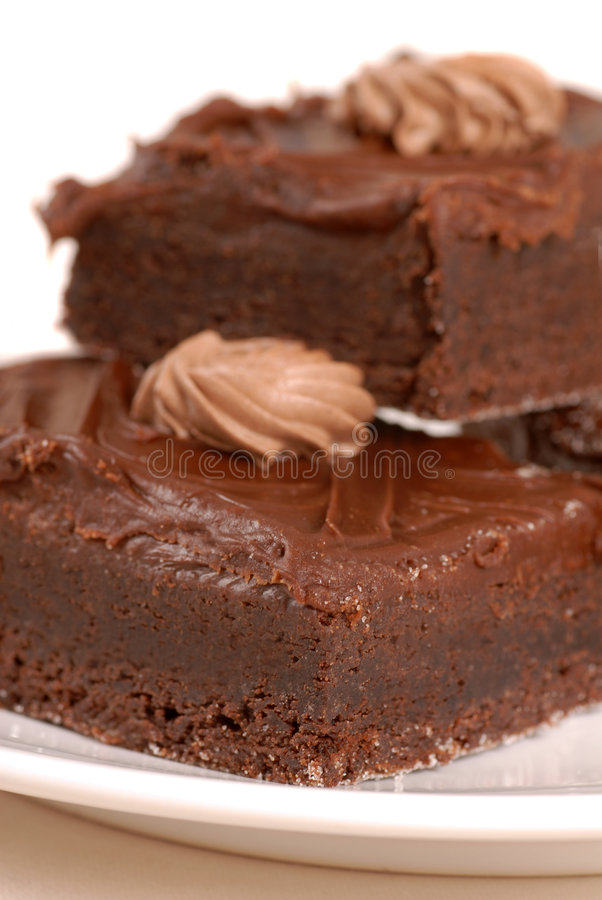 Chocolate fudge brownies royalty free stock photo