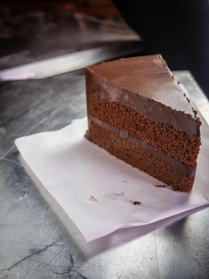 Chocolate fudge cake,selective focus royalty free stock image