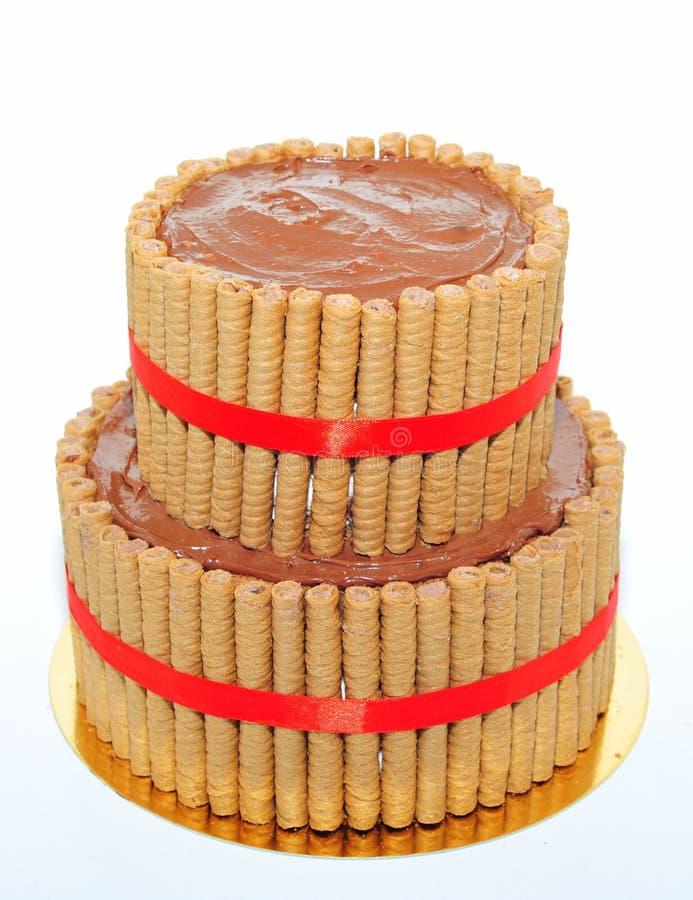 Chocolate ganache cake royalty free stock image