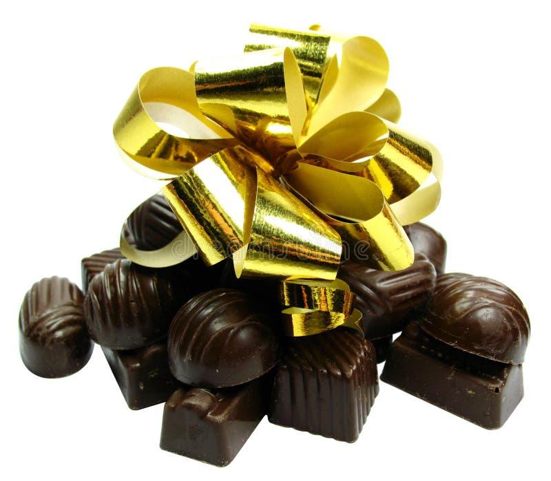 Chocolate gift Isolated stock image