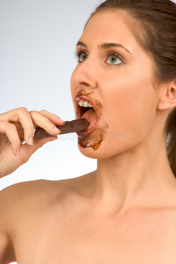 Chocolate girl royalty free stock images