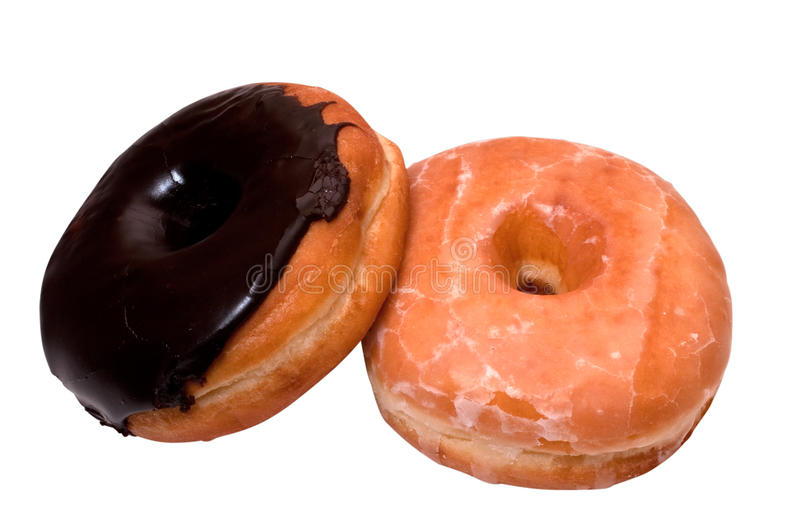 Download Chocolate And Glazed Donuts With Clipping Path Stock Photo - Image: 11563312