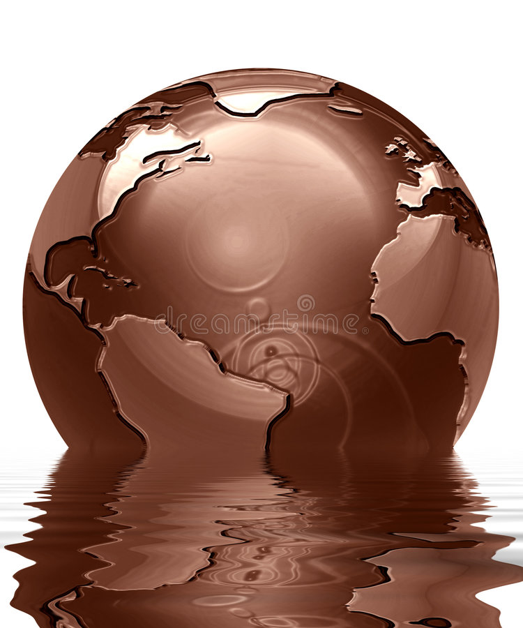 Chocolate globe royalty free stock images