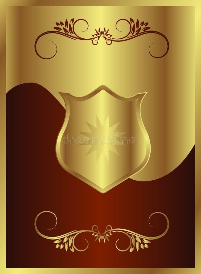 Chocolate Gold Shield vector illustration