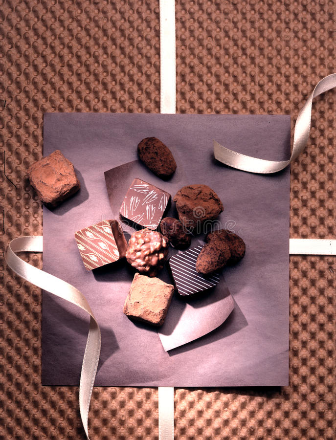 Chocolate, gourmet ,chocolate truffles. Rich, delicate, luxurious and highly seductive Chocolate gifts ,chocolate ideal for gifts , chocolate truffles stock photos