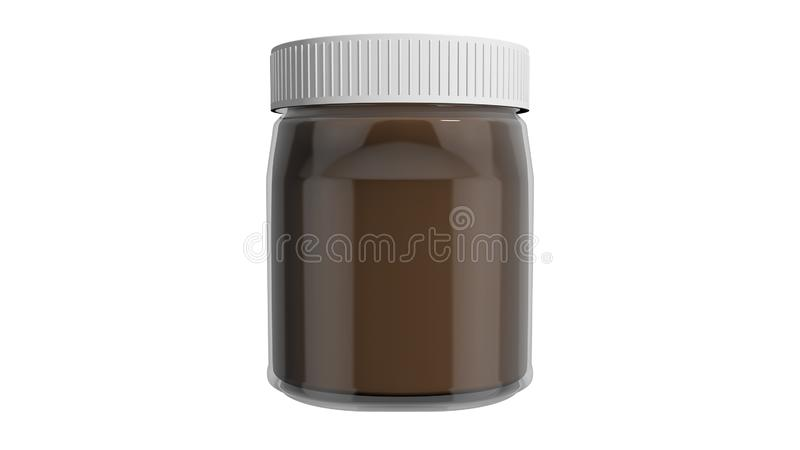 Spread. Chocolate and hazelnut spread, appreciated by children and adults alike royalty free illustration